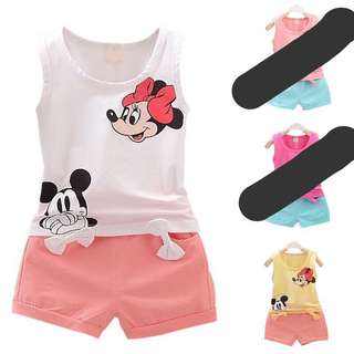Mickey Baby Clothes Pants Set