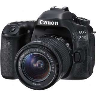 Canon EOS 80D Wi-Fi DSLR Camera with 18-55mm