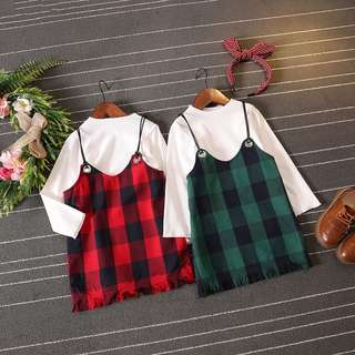2 - 8 years old checkered dress for girls