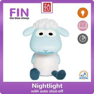 Nightlight With Auto Shut-Off - Fin The Sheep (Blue)