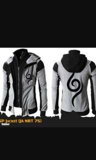 Anime Jacket Naruto Grey, Double Zipper