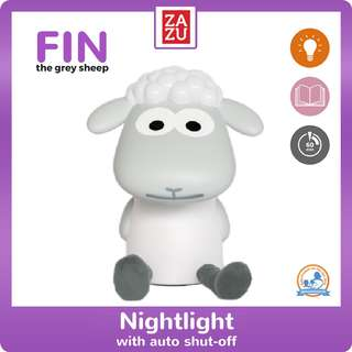 Nightlight With Auto Shut-Off - Fin The Sheep (Grey)