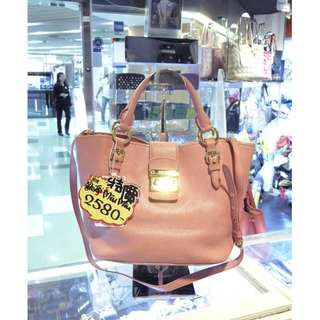 Miu Miu Pink Leather Shoulder Hand Bag MiuMiu 繆繆 粉紅色 羊皮 皮革 手挽袋 手袋 肩袋 袋