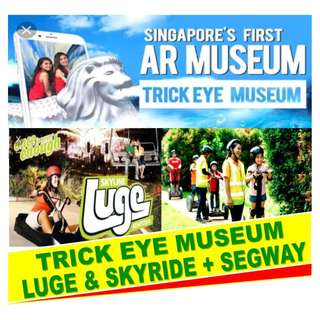 TRICK EYE MUSEUM + LUGE & SKYRIDE + SEGWAY FUN RIDE