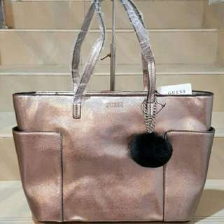 SALE!!TERMURAH!!GUESS TOTEBAG GOLD
