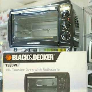 Black and Decker - 19L焗爐  瘋狂優惠價 : HK$350 《原價 : HK$628》
