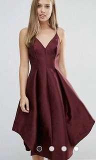 Keepsake size M / 10 Maroon dress