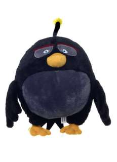 "OFFICIAL NEW 12"" BLACK ANGRY BIRD FROM ANGRY BIRDS THE MOVIE PLUSH SOFT TOY BRAND NEW W TAG 38 CM BLACKBERRY"