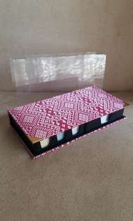 Songket fabric cover note pad organizer