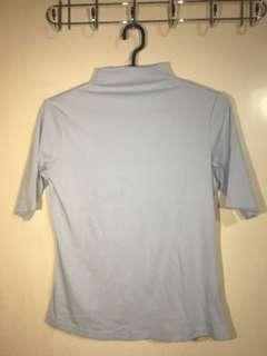 Light Blue Shirt - Semi Turtle Neck