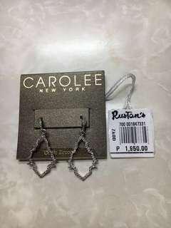 Rustan's Carolee Silver Cubic Zirconia Dangling Earrings
