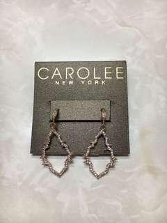 Rustan's Carolee Rosegold Cubic Zirconia Dangling Earrings