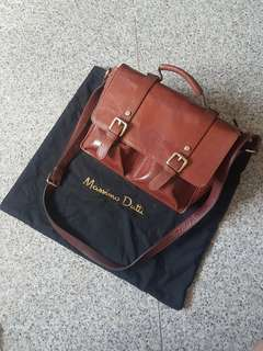 Massimo Dutti Leather Satchel