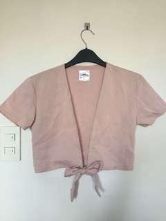 Nude pink crop top