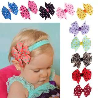 Mix 3 for $6 baby headbands
