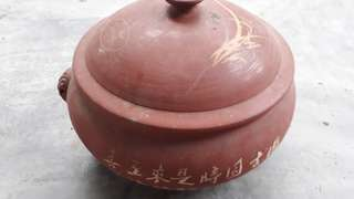 vintage terraccota cooking pot