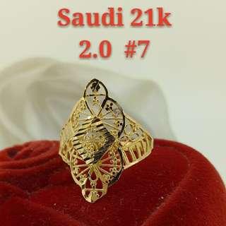 WOMEN'S 21K SAUDI GOLD RINGS >>>>>>