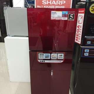 Cicilan kulkas SHARP tanpa kartu kredit proses cepat 3 menit lg promo 0%