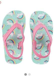 Carter's unicorn flip flop