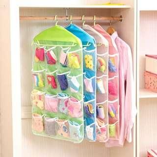 16 Grid Underwear Bras Socks Ties Shoes Storage