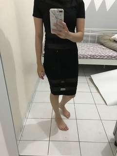 Black dress stripe