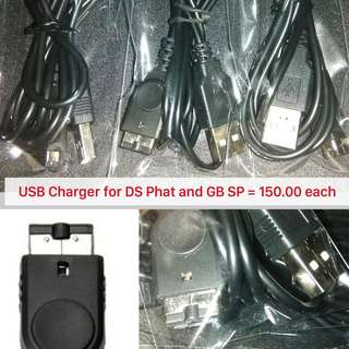 USB Charger for Nintendo DS Phat and Gameboy SP