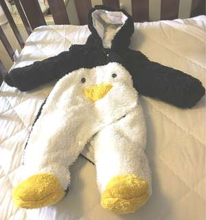 Baby winter penguin coat for 6-12 months old