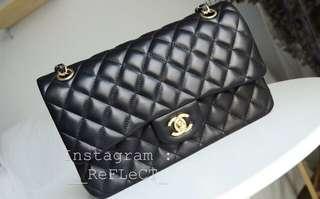 Chanel Classic Lambskin Flap Bag Gold Chain