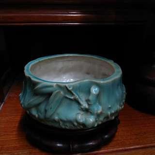 石灣陶瓷~竹段盆
