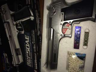 Desert Eagle.50ae Silver model electric blowbackgun from Tokyo marui!