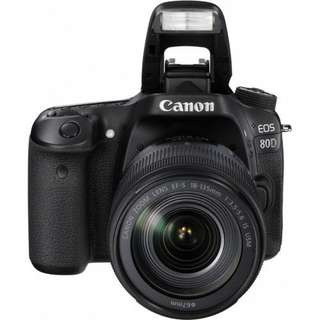 Canon EOS 80D Wi-Fi DSLR Camera with 18-135mm