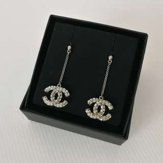 Authentic Chanel CC Dazzling Earrings