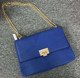 ALD0 stripe OL gold chain bag