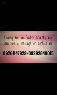English Tutor/Teacher