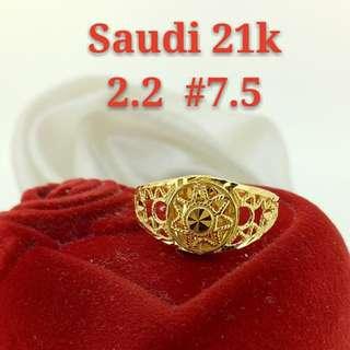 WOMEN'S 21K SAUDI GOLD RINGS >>>.>>>