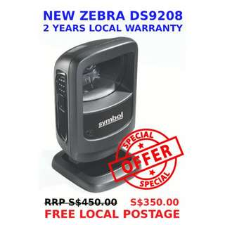 Zebra Symbol DS9208 Omnidirectional Hands-Free Presentation Imager (Authorised Singapore Reseller - 02 years Local Warranty) NEW - scans 1D and 2D barcode including QR codes