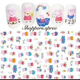 Peppa Pig Nails Stickers