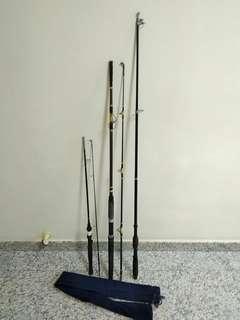 Fishing Rods, Reels, Sinker & Accessories