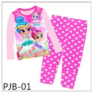 8Y-12Y Shimmer and Shine Long Sleeve Pajamas