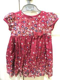 Floral Dress for 12-18 months