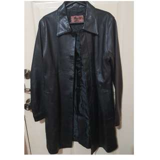 Mino Leather Coat with Lining (Genuine Leather)