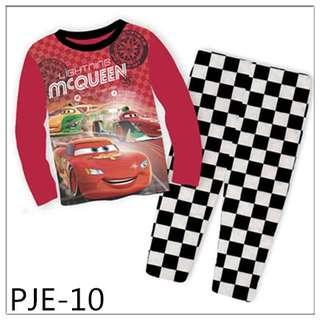 8Y-12Y Lightning Mcqueen long sleeve Pajamas