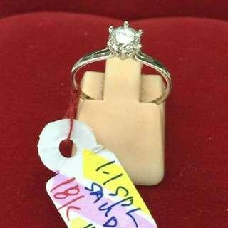 18k saudi white gold engagement ring