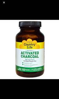 Activated charcoal, 4g , 100capsule, VEGAN
