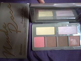 BH COSMETICS NUDE ROSE SCULPT AND GLOW PALLETE