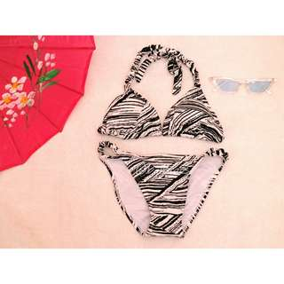 REPRICED. Twisted black and white bikini / two piece / swimsuit