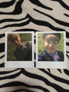 (WTT) Jin & JHope polaroids - BTS YOUNG FOREVER