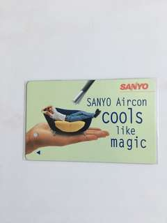 TransitLink Card - SANYO Aircon - cools like magic
