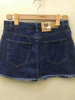 Denim skirt with inner short