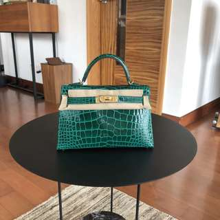 Hermes Kelly mini Alligator Ghw 6Q